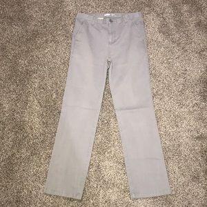 Gray khaki pants, old navy, Straight fit